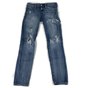 American Eagle Jegging Destroyed Jeans